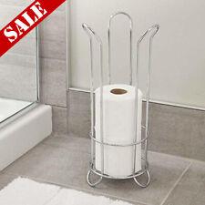 Toilet Paper Holder Tissue Storage Rack Extra Rolls Tp Bathroom Organizer Stand