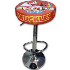 TABURETE ARCADE KNUCKLES ACERO CROMADO REGULABLE ACOLCHADO RECREATIVA BARTOP