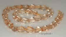 12X9MM  CITRINE QUARTZ GEMSTONE TWIST OVAL LOOSE BEADS 7.5""