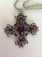 Necklace Silver Beaded Cross Fashion Jewrlery  Designer Bohemian Chic Women Hip