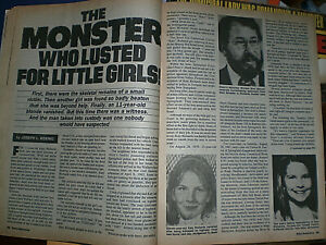 True Detective Magazine  September 1984 - True Crime SEE Story  Photos