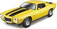 CHEVROLET Camaro - 1971 - yellow / black - Maisto 1:18