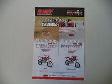 advertising Pubblicità 2006 MOTO HM 50 ENDURO/HM 50 MOTARD