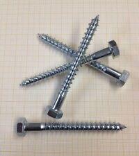 200x Schlüsselschrauben DIN 571 8 x 60 mm Stahl verzinkt Sechskant Holzschrauben