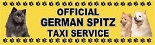GERMAN SPITZ OFFICIAL TAXI SERVICE Dog Car Sticker  By Starprint