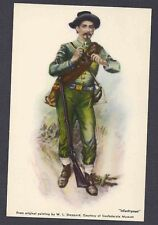 Ca 1945 P C CONFEDERATE INFANTRY MAN BY SHEPPARD IN MUSEUM MINT VALUE $19.50