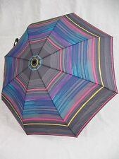 ESPRIT Regenschirm Stripes grau leichter gestreifter Taschenschirm
