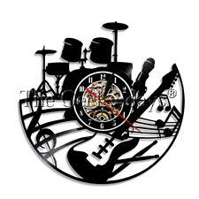 Drum Kits Guitar Vinyl Record Wall Clock Instrument Wall Clock Music Lover Gift