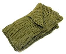 GENUINE BRITISH ARMY SCRIM NET SCARF in OLIVE GREEN APPROX 4.5FT X 4.25FT