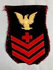 U.S.+Navy%2C+Original%2C+Pharmacist%27s+Mate+PO1+Rating+Badge+on+Blue%2C+1905-1927