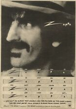 24/10/81PGN08 ADVERT: FRANK ZAPPA DOUBLE ALBUM YOU ARE WHAT YOU IS 10X7