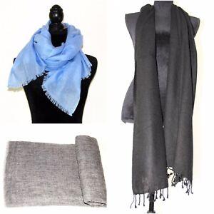 Cashmere Shawl Wrap100% Pashmina Ladies Travel Blanket Scarf Soft Warm Nepal