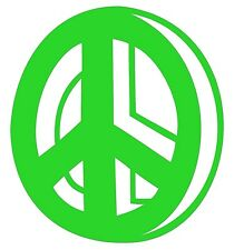 10cm PEACE SYMBOL sticker decal.Car,campervan,baby kids room,wall window art!