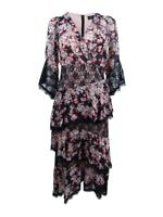 JAX Women's Midi Lace-Trim Dress