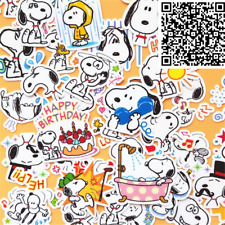 Snoopy Assorted Skateboard Stickers Lot Of 40 Pieces Adorable!!