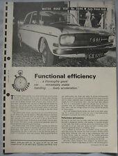 1966 Auto Union Audi Original Motor magazine Road test
