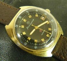 Wostok Vostok Zakaz MO USSR WristWatch Date 2234 cal stop second gold plated