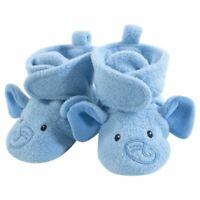 Hudson Baby Fleece Booties, Blue Elephant