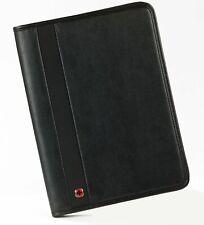 Wenger Folio Trader Bi-Folio Business Card Notepad Case Folder with Pen, Black