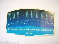 VECCHIO ADESIVO AUTO / Old Sticker 64° SALONE DELL'AUTO DI TORINO  (cm 13 x 8)