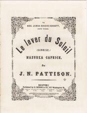 Le Lever du Soleil Mazurka-Caprice, 1864 vintage antique sheet music