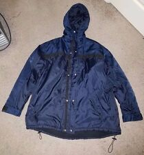 Sean John Nylon Winter Jacket Coat Navy Blue Black Hooded Polyester RN 51067