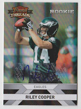 RILEY COOPER Eagles 2010 Panini Threads Rookie Autograph #276 RC AUTO SP #/499