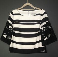 BNWOT Stunning COAST Black & White Top Lace Wedding Outfit UK Size 6 RRP £90