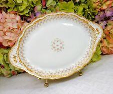 Haviland Limoges Porcelain Serving Platter Schleiger 349A ~ Roses ~ Double Gold
