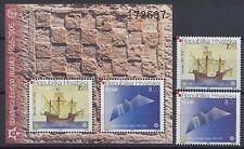 50 JAHRE EUROPAMARKEN EUROPA CEPT - 2005 KROATIEN CROATIA - 734-35 + BLOCK 27 **
