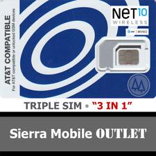 NET10 TRIPLE SIM MINI 2FF MICRO 3FF NANO 4FF • GSM 4GLTE  • AT&T Network MVNO