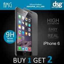 AMG 9H HIGH QUALITY REAL TEMPERED GLASS SCREEN PROTECTOR FOR iPHONE 6 6s NEW