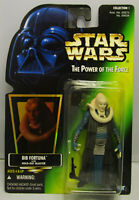 1996 Kenner Star Wars Bib Fortuna POTF 2 (.00 Var.) Green Card Figure MOC