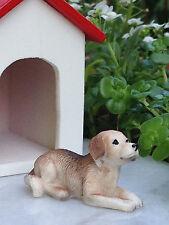 Miniature Dollhouse FAIRY GARDEN Accessories ~ Small Brown Beagle Dog ~ NEW