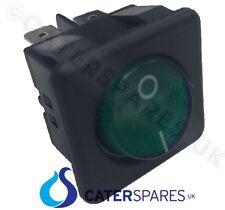 16A Interruttore A Bilanciere Neon Verde POWER ON OFF BIPOLARE 4 PIN 25X25 QUADRATO IP40
