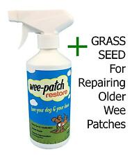 WEE PATCH RESTORE + GRASS SEED Repair Dog Wee Burn on Lawns/Grass-It Doggy Rocks