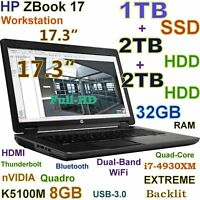 "# Workstation 17.3"" HP ZBook 17 FHD i7-EXTREME (1TB SSD 2TB+2TB 32GB) K5100M 8GB"