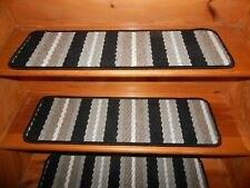 """13 Step 9"""" x 30"""" + Landing 23"""" X 35"""" In/Outdoor Stair Treads Rubber Back Carpet"""