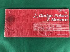 OEM 1967 Dodge Polara & Monaco Owners Operators Manual 67, Original