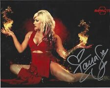 Taya Valkyrie autographed 8x10 #16 Free Shipping Lucha TNA Sexy Impact Fire #3