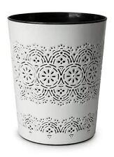 Blue Canyon Flora White Stylish Floral Design Waste Paper Rubbish Bin 9L