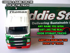 PERSONALISED NAMES Gift Eddie Stobart Truck Lorry 25cm Model Toy Present Boxed
