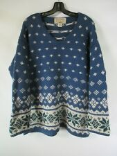 H0429 VTG Abercrombie & Fitch 100% Wool Winter Pull-Over Sweater Size S