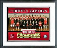 "Toronto Raptors 2019 NBA Finals Champions Photo (Size: 12.5"" x 15.5"") Framed"