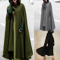Fashion Women Trench Coat Open Front Cardigan Jacket Coat Cape Cloak Poncho Plus