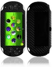Skinomi Carbon Fiber Black Skin+Screen Protector for Sony Playstation Vita 3G