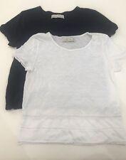 *Lot of 2* Abercrombie Sz XS/S Crochet Lace Trim Shirts Short Sleeve Tops & Fitc
