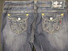 Women's MEK Denim Blue Jeans Pants SYDNEY Distressed Bootcut 33/36