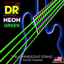 DR Strings NGB6-30 Neon Green 6-String Electric Bass Strings (30-120)
