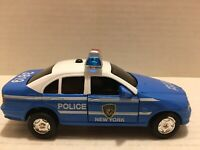 1:43 Scale NY Police Car # 3819 Lights & Sound Pull Back Powered Hood/Doors Open